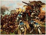 La captura de los fuertes en Taku por Fritz Neumann