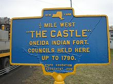 The Castle, where Oneida Indian councils were held.