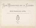 The Disasters of War (Los Desastres de la Guerra), title page MET DP817146.jpg