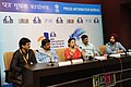 The Filmmakers, Nitin Kakkar, Iram Ghuffran, B.S. Lingadevaru and actress Divya Duttta at a press conference, during the 46th International Film Festival of India (IFFI-2015), in Panaji, Goa on November 28, 2015.jpg