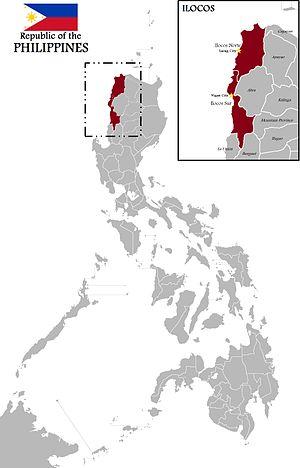 Ilocos - Map of Ilocos