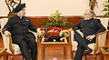 The Lt. Governor of Delhi, Shri Anil Baijal meeting the Minister of State for Housing and Urban Affairs (IC), Shri Hardeep Singh Puri, to discuss implementation of Land Pooling Policy, in New Delhi on October 12, 2017.jpg