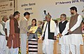The Minister of State of Rural Development, Ms. Agatha Sangma presenting an award to one of the awardees, at the Mahatma Gandhi NREGA SAMMELAN 2010, in New Delhi on February 02, 2010.jpg
