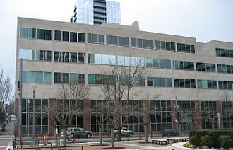 The Oregonian - The Oregonian Building of 1948, which occupies a full city block in downtown Portland, housed the paper's headquarters from 1948 to 2014.