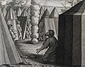 The Phillip Medhurst Picture Torah 462. God talks with Moses. Exodus cap 33 vv 9-11. after Raphael.jpg