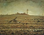 The Plain of Chailly with Harrow and Plough, Jean-François Millet.jpg