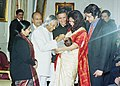 The President Dr. A.P.J. Abdul Kalam administering polio drops to a child to launch Pulse Polio Campaign in New Delhi on January 3, 2004.jpg