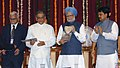 The Prime Minister, Dr Manmohan Singh releasing Vision Document at the 150th Anniversary Celebrations of the University of Mumbai, Maharashtra on June 22, 2007.jpg