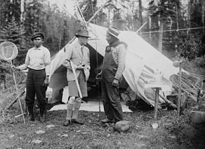 Lake Nipigon - The Prince of Wales at Lake Nipigon, 1919
