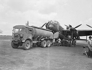 AEC Matador - AEC 854 refueling an Avro Lancaster, 1944