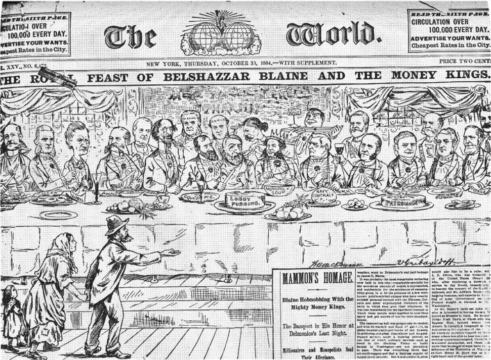 The Royal Feast of Belshazzar Blaine and the Money Kings (1884)