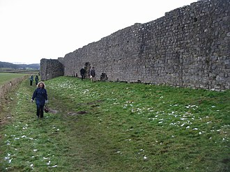 Wales in the Roman era - Roman Walls at Caerwent (Venta Silurum), erected c. 350.