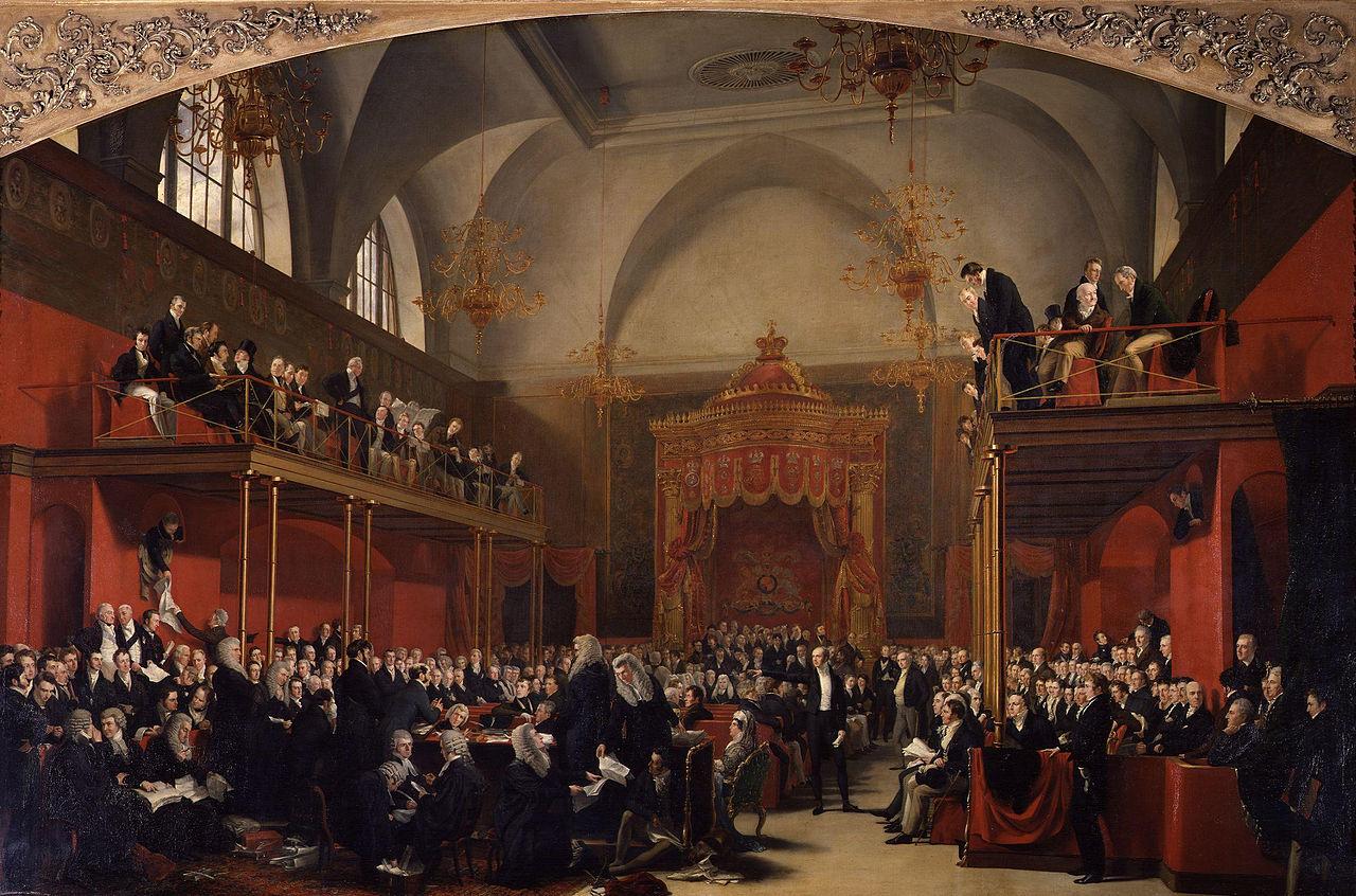 The Trial of Queen Caroline 1820 by Sir George Hayter.jpg