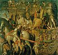 The Triumphs of Caesar, IX - Julius Caesar on his triumphal chariot; Andrea Mantegna (1484-92).JPG