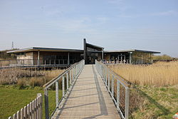 The Visitors Centre at Newport Wetlands Centre.JPG