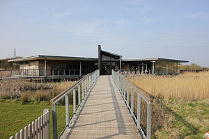 Newport Wetlands - Image: The Visitors Centre at Newport Wetlands Centre