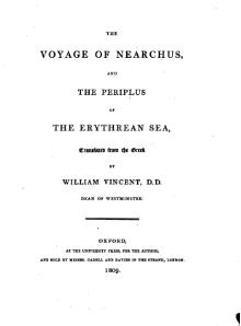 The Voyage of Nearchus and the Periplus of the Erythrean Sea.djvu