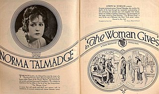 <i>The Woman Gives</i> 1920 film directed by Roy William Neill