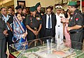 The building plan of the newly inaugurated Manekshaw Centre being shown to the President, Smt. Pratibha Devisingh Patil, at Delhi Cantonment, on October 21, 2010.jpg