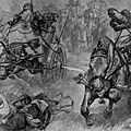 The charge of the Persian scythed chariots at the battle of Gaugamela by Andre Castaigne (1898-1899) cropped.jpg