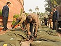 The documents of the Interim Budget 2014-15 brought in Parliament House premises under security, in New Delhi on February 17, 2014 (1).jpg