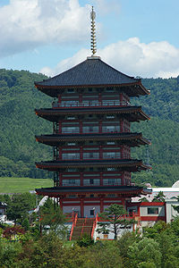 The five-storied pagoda in Ashibetu2.JPG