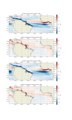 The mean zonal and meridional components of NEC in Atlantic in La Nina (1998) and El Nino (1997) years.png