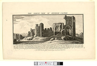 The north view of Denbigh castle
