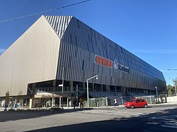 The outside of the Gewiss Stadium in 2020.jpg
