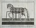 The preparatory iron armature for an equestrian statue. Engr Wellcome V0049656.jpg