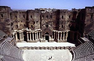Skene (theatre) - Image: The theatre of Bosra, Syria 447468137