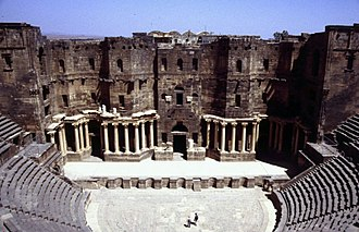 Skene (theatre) - Image: The theatre of Bosra, Syria 447468137