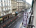 The view from the balcony of the Hotel Claude 1, Paris 2012.jpg