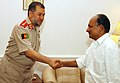 The visiting Afghan National Army Chief of General Staff, General Bismillah Khan Mohammadi called on the Defence Minister, Shri A. K. Antony, in New Delhi on July 06, 2009.jpg