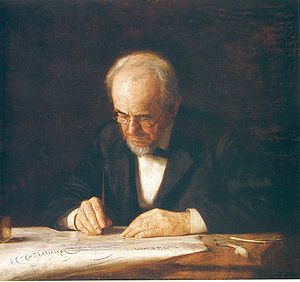 Painting The Writing Master by Thomas Eakins