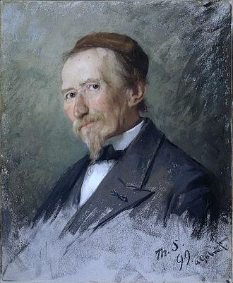 Paul Gabriël - Portrait of Paul Gabriel in 1899 by Therese Schwartze
