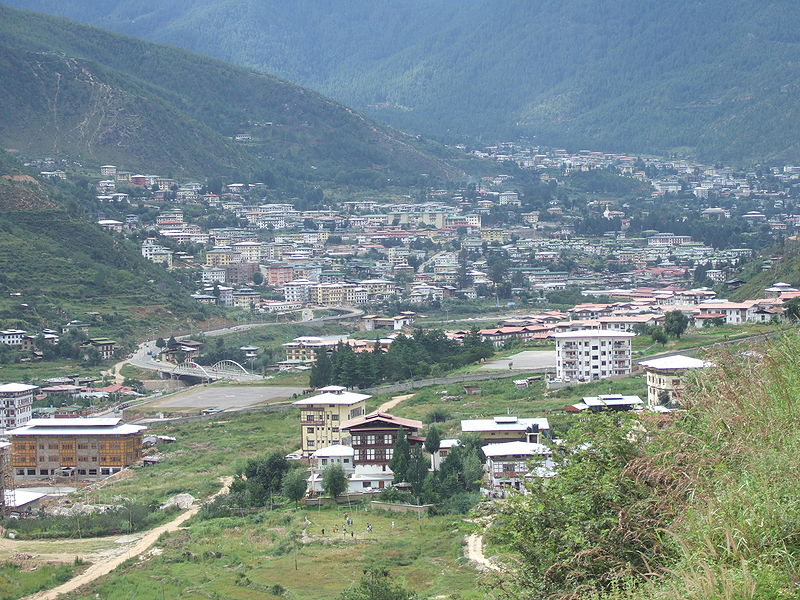 File:Thimphu from the south 080907.JPG