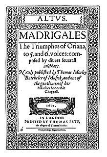 <i>The Triumphs of Oriana</i>