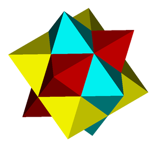 First stellation of the rhombic dodecahedron