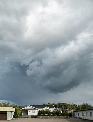 Thunder cloud over Gåseberg