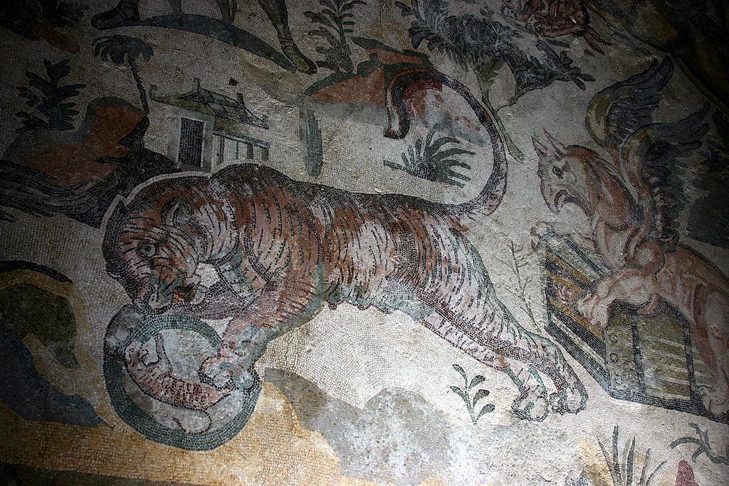 Mosaïque romaine de tigre