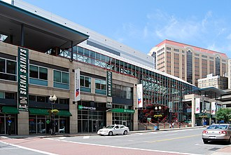 Times Union Center - View of the TU Center from Pearl Street