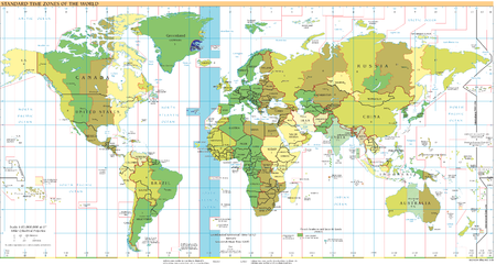 Canary Islands are located just in the middle of GMT-01:00 time zone. Timezones2008 UTC-1.png