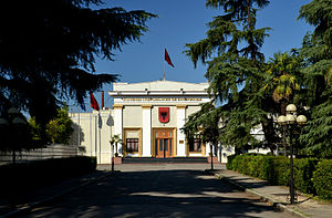 Parliament of Albania - Image: Tirana Albanian National Assembly (by Pudelek)