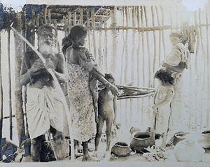 Vedda - Tisahamy Aththo with Some Vedda Women.