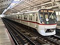 Toei 5300 5320F 60th anniversary headmark in Keisei-Hikifune Station.jpg