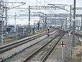 Tokaido Shinkansen scissors crossing in Mishima 01.jpg