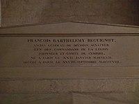 Tomb of François Barthélemy Beguinot in Panthéon.jpg