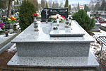 Tomb of Romuald Bobrzak and Jerzy Smolak at Central Cemetery in Sanok 1.jpg