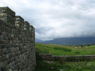 Tomen y Mur Roman fort and motte-and-bailey castle in Gwynedd, Wales